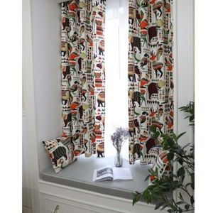 Animal printing curtain